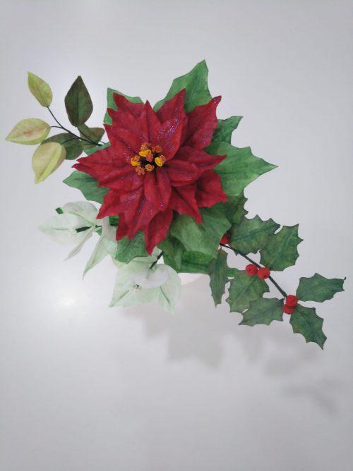 flor de papel comestible